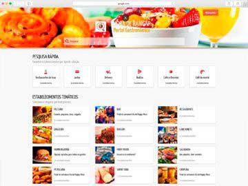 Portal de anúncios de restaurantes.
