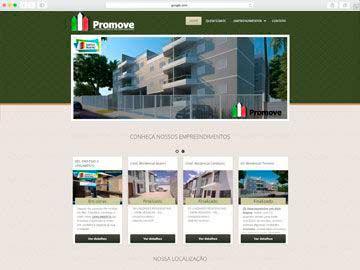 Site institucional, responsivo e dinâmico para construtora.