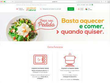 Site institucional, loja virtual e responsivo para empresa de comida congelada.